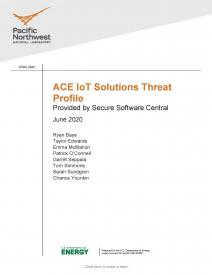 Cover page for ACE Io T Threat Profile June 2020